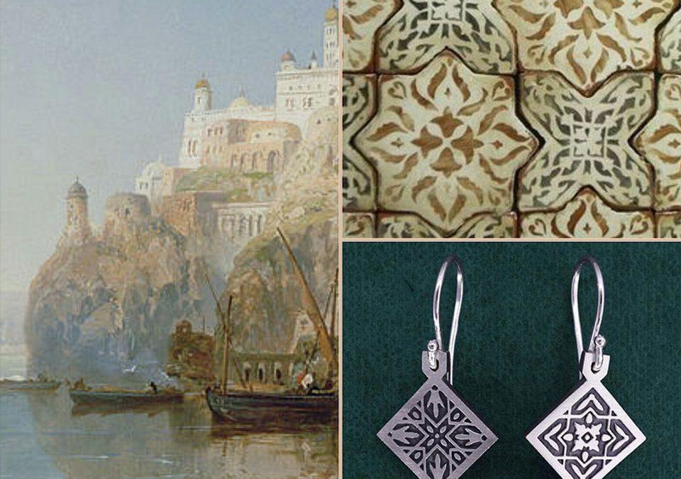 Histoire des boucles d'oreilles Constantinople de la ligne Orientalisme